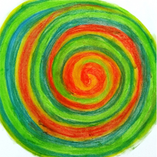Spirale rot grün